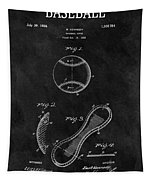 1924 Baseball Patent Illustration Tapestry
