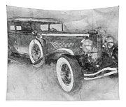 1928 Duesenberg Model J - Automotive Art - Car Posters Tapestry