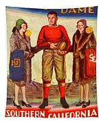 1929 Notre Dame Versus Southerncal Tapestry