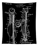 1930 Gas Pump Patent In Black Tapestry