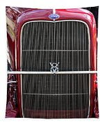 1930 Red Ford Model A-grill-8885 Tapestry