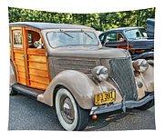 1936 Ford V8 Woody Station Wagon Tapestry