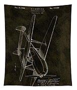 1936 Tandem Motored Biplane Tapestry