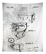 1936 Toilet Bowl Patent Antique Tapestry