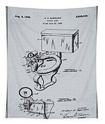1936 Toilet Bowl Patent Antique Gray Tapestry
