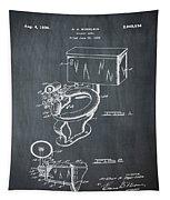 1936 Toilet Bowl Patent Chalk Tapestry