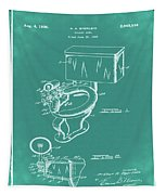 1936 Toilet Bowl Patent Green Tapestry