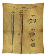 1939 Baseball Bat Patent Tapestry