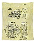 1940 Film Camera Patent Tapestry