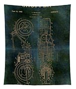 1942 Grunge Chopper Motorcycle Patent Tapestry