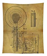 1943 Camera Flash Patent Tapestry