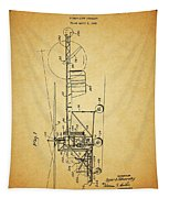1943 Helicopter Patent Tapestry