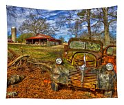 1947 Dodge Dump Truck Country Scene Art Tapestry