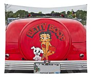 1949 Chevrolet Convertible Betty Boop  Tapestry