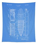1950 Surfboard Patent Tapestry