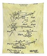 1952 Helicopter Patent Tapestry