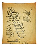 1954 Chainsaw Patent Tapestry