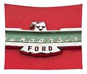 1956 Ford Thunderbird Emblem Tapestry
