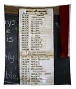 1956 One Room School House Recitation Program Tapestry