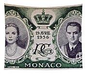 1956 Princess Grace Of Monaco Stamp II Tapestry