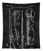 1957 Rifle Patent Illustration Tapestry