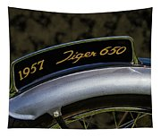 1957 Triumph Tiger 650 License Plate Tapestry