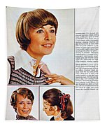 1960 70 Stylish Female Hair Styles Brown Tapestry