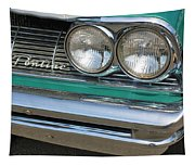 1961 Pontiac Catalina Grille With Headlights And Logo Tapestry