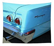1962 Chevy - Chevrolet Biscayne Logos And Tail Lights Tapestry