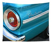 1963 Ford Falcon Tail Light And Logo Tapestry