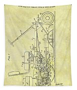 1966 Riding Mower Patent Tapestry