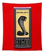 1967 Ford Shelby Gt 500 Cobra Fender Emblem On Red Tapestry