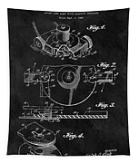 1967 Lawn Mower Patent Illustration Tapestry
