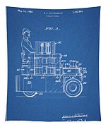 1968 Lift Truck Patent Tapestry