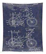 1968 Schwinn Stingray Patent In Blueprint Tapestry