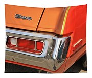 1973 Plymouth Scamp Tail Lights And Logo Tapestry