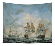 19th Century Naval Engagement In Home Waters Tapestry