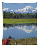 1m1326 Wife And Son In Denali National Park Tapestry