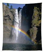 1m4716 Snoqualmie Falls And Rainbow Tapestry