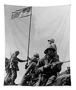 1st Flag Raising On Iwo Jima  Tapestry by War Is Hell Store