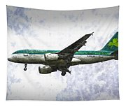 Aer Lingus Airbus A319 Art Tapestry