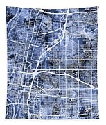 Albuquerque New Mexico City Street Map Tapestry