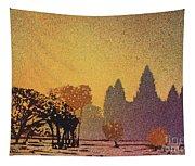 Angkor Sunrise Tapestry