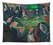 At The Roulette Table In Monte Carlo Tapestry