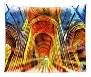 Bath Abbey Sun Rays Art Tapestry