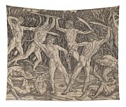 Battle Of The Nudes Tapestry