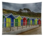Beach Huts 1 Tapestry