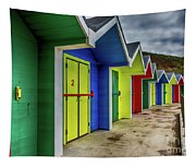 Beach Huts 2 Tapestry