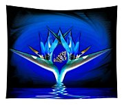 Blue Bird Of Paradise Tapestry
