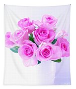 Bouquet Of Pink Roses Tapestry